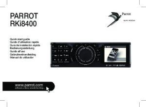 Parrot RKi8400. p.06 p.11 p.19 p.27 p.35 p.43 p.51 p.59 p.66 p.70