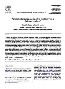 Parrotfish abundance and selective corallivory on a Belizean coral reef