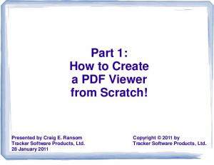 Part 1: How to Create a PDF Viewer from Scratch!