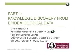 PART 1: KNOWLEDGE DISCOVERY FROM EPIDEMIOLOGICAL DATA