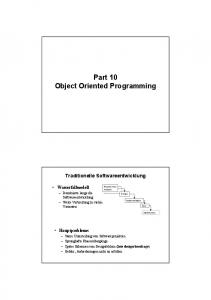 Part 10 Object Oriented Programming
