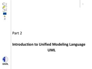 Part 2. Introduction to Unified Modeling Language UML