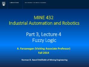 Part 3, Lecture 4 Fuzzy Logic