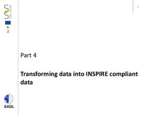 Part 4. Transforming data into INSPIRE compliant data