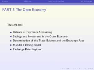 PART 5 The Open Economy
