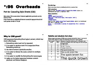 Part 6e: Cascading Style Sheets (CSS)