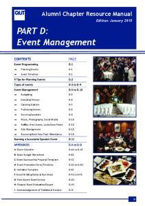 PART D: Event Management