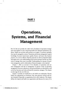 PART I Operations, Systems, and Financial Management