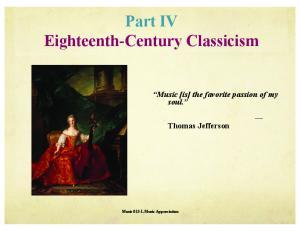 Part IV Eighteenth-Century Classicism