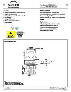 Part Number: XZDG25X92S-4. Application Note. Features. Applications. Package Schematics. 3.5x3.5 mm SMD CHIP LED LAMP