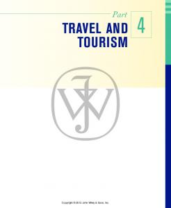 Part TRAVEL AND TOURISM 4. Copyright 2012 John Wiley & Sons, Inc