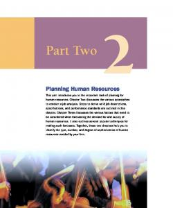 Part Two. Planning Human Resources