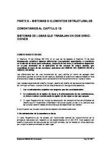 PARTE 5 SISTEMAS O ELEMENTOS ESTRUCTURALES SISTEMAS DE LOSAS QUE TRABAJAN EN DOS DIREC- CIONES