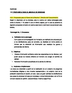 PARTE III 4.6 PROPUESTA PARA EL MODELO DE BRECHAS
