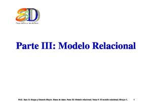 Parte III: Modelo Relacional