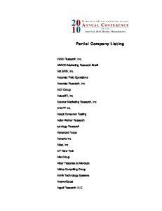 Partial Company Listing