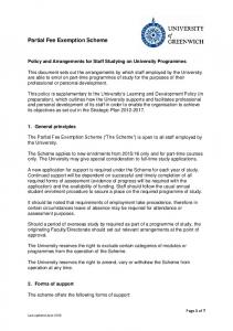 Partial Fee Exemption Scheme
