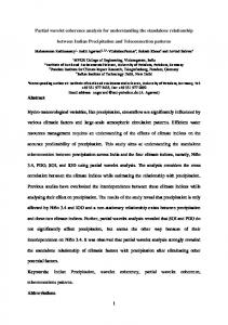 Partial wavelet coherence analysis for understanding the standalone relationship. between Indian Precipitation and Teleconnection patterns