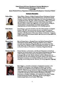 Participant Biographies