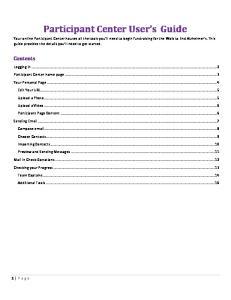 Participant Center User s Guide