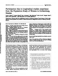 Participation bias in longitudinal studies: experience from the Population Study of Women in Gothenburg, Sweden