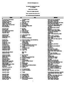 Participation List