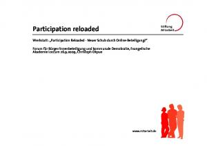 Participation reloaded
