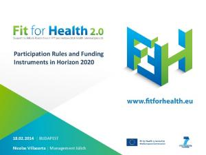 Participation Rules and Funding Instruments in Horizon 2020