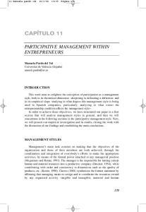PARTICIPATIVE MANAGEMENT WITHIN ENTREPRENEURS