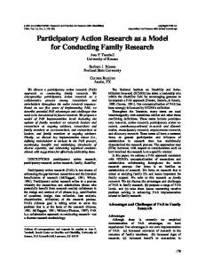 Participatory Action Research as a Model for Conducting Family Research