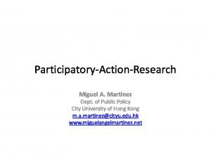 Participatory-Action-Research