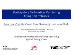 Participatory Air Pollution Monitoring Using Smartphones