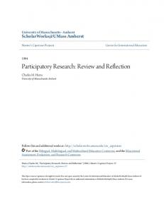 Participatory Research: Review and Reflection