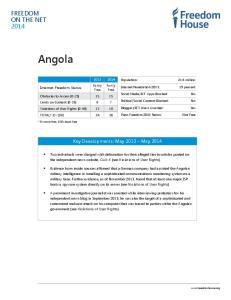 Partly Free. Key Developments: May 2013 May 2014
