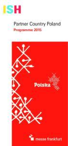 Partner Country Poland. Programme 2015
