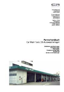 Partnerhandbuch Car Wash Tools SB-Autowaschanlagen