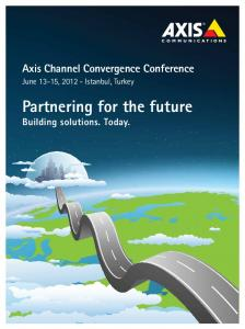 Partnering for the future Building solutions. Today