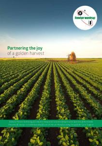 Partnering the joy of a golden harvest