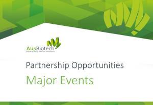 Partnership Opportunities. Major Events