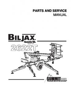 PARTS AND SERVICE MANUAL