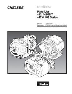 Parts List 442, 442GMT, 447 & 489 Series