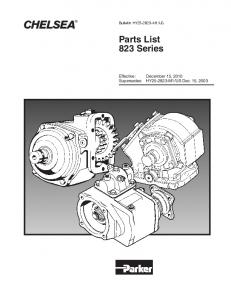 Parts List 823 Series
