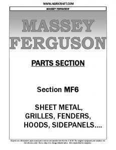 PARTS SECTION. Section MF6