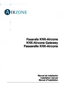 Pasarela KNX-Airzone KNX-Airzone Gateway Passerelle KNX-Airzone