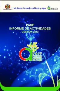 PASF INFORME DE ACTIVIDADES