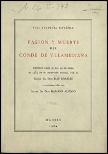 PASION Y MUERTE CONDE DE VILLAMEDIANA
