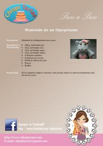 Paso a Paso. Modelado de un Hipopótamo. Síguenos en Facebook!!!