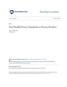 Pass Parallel Privacy Standards or Privacy Perishes