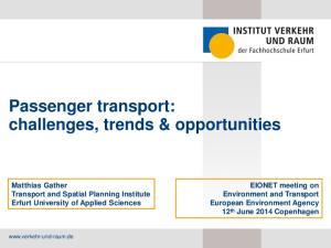 Passenger transport: challenges, trends & opportunities