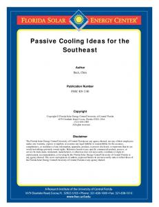 Passive Cooling Ideas for the Southeast